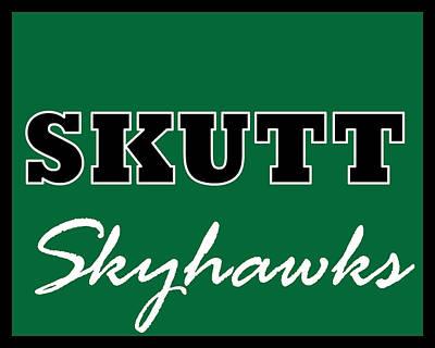 Digital Art - Skutt Skyhawks by Brian Moore