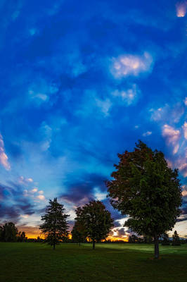 Photograph - Sky Above The First Signs Of Autumn by Chris Bordeleau