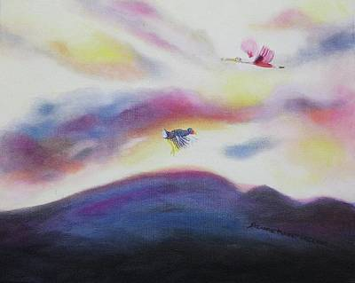 Sky And Birds Art Print