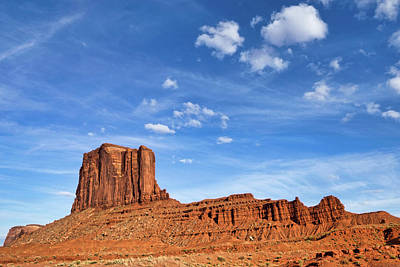 Photograph - Sky And Butte Monument Valley by Jerry Fornarotto