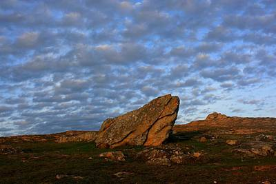 Sky And Rock - Etel Township, Brittany, Morbihan, France Art Print by Guillaume Pierre Royer
