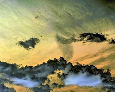 Photograph - Cloud Art Inverted Colors by Richard Yates