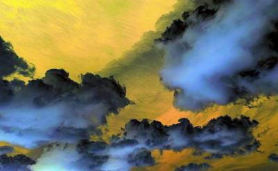 Photograph - Blue Clouds Golden Sky by Richard Yates