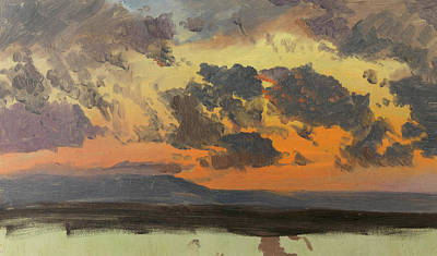 West Indies Painting - Sky At Sunset Jamaica West Indies by Frederic Edwin Church