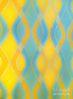 Photograph - Sky Blue And Gold Pattern by Tim Townsend
