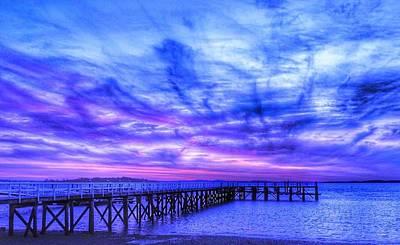 Sky Blue Pink  Art Print