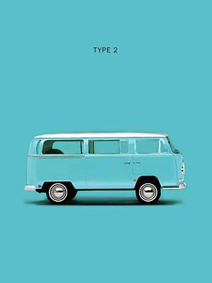 Volkswagen Photograph - Sky Blue Type 2 by Mark Rogan