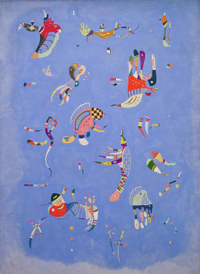 Contour Painting - Sky Blue by Wassily Kandinsky