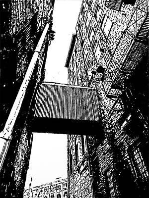 Painting - Sky Bridge - Black And White by Rob Blauser