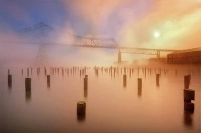 Photograph - Sky Bridge In Foggy Morning by William Lee