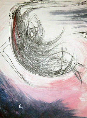 Abstract Forms Drawing - Sky Bringer by Jennifer JenniFire DAndrea