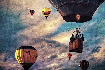 Photograph - Sky Caravan Hot Air Balloons by Bob Orsillo