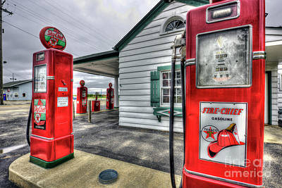 Sky Chief Gas Pumps Art Print by Kevin Oconnell