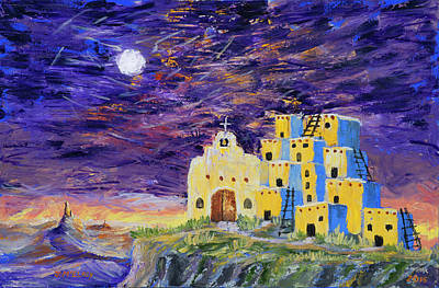 Acoma Painting - Sky City by Jerry McElroy