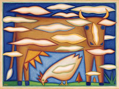 Sky Cow Art Print by Mary Anne Nagy
