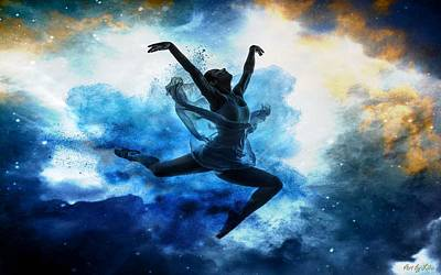 Digital Art - Sky Dancer 1 by Lilia D