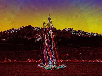 Sound Digital Art - Sky Diamonds by Tim Allen