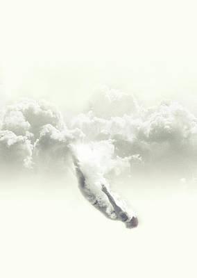 Trippy Digital Art - Sky Diver by Fran Rodriguez