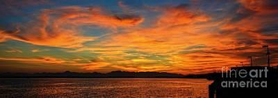 Photograph - Sky Fire 3 by Frank Larkin