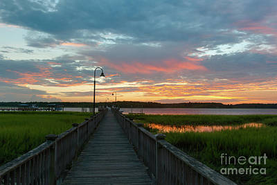 Photograph - Sky Glow Over The Wando River by Dale Powell