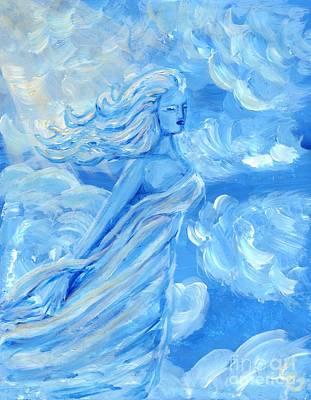 Sky Goddess Art Print by Cassandra Geernaert