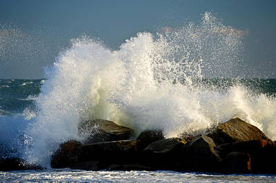 Photograph - Sky High Splash - Cape Cod Bay by Dianne Cowen
