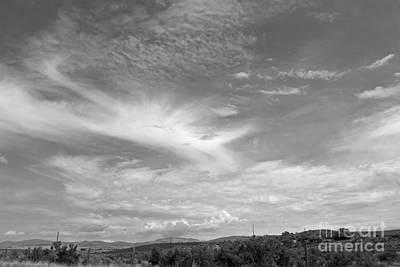 Sky In Black And White Art Print