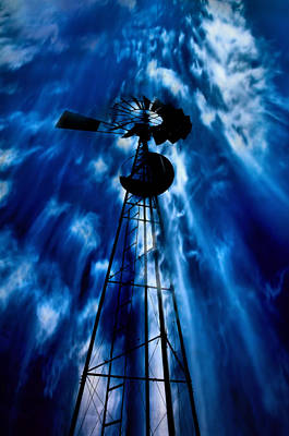 Windmill Photograph - Sky In The Windmill by Larry Jost