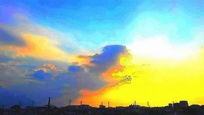 Cloud Digital Art - Sky by Kumiko Izumi