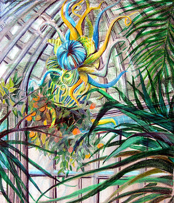Conservatory Drawing - Sky Light by Mindy Newman
