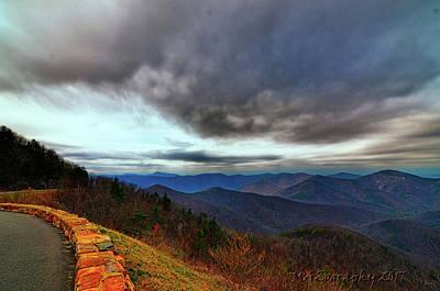 Smokey Mountain Drive Photograph - Sky Line Drive Virginia by Melissa Hicks
