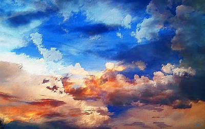 Photograph - Sky Moods - Textures by Glenn McCarthy