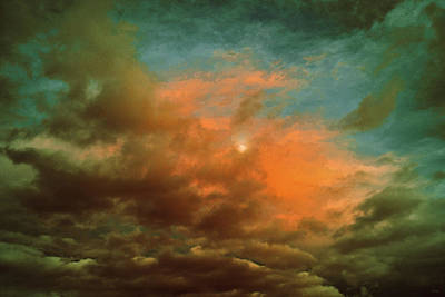 Photograph - Sky Moods - When The Moons Behind The Clouds by Glenn McCarthy Art and Photography