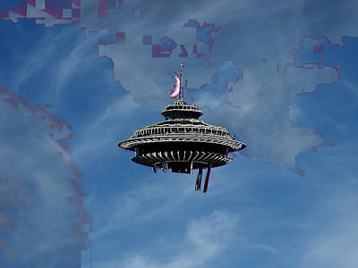 Sky Needle Art Print by Tim Allen
