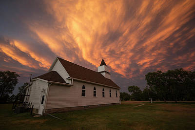 Photograph - Sky Of Fire by Aaron J Groen