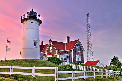 Photograph - Sky Of Passion - Nobska Lighthouse by Expressive Landscapes Fine Art Photography by Thom