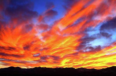 Photograph - Sky On Fire #5 by Paul Marto