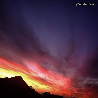 Photograph - Sky On Fire by Alistair Lyne