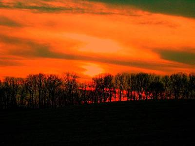Photograph - Sky On Fire by Carolyn Jacob