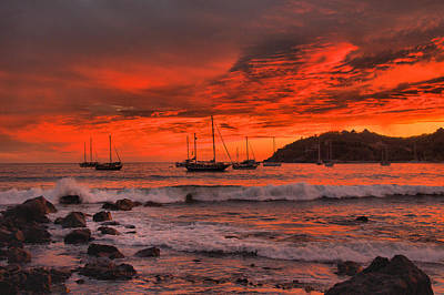 Photograph - Sky On Fire by Jim Walls PhotoArtist