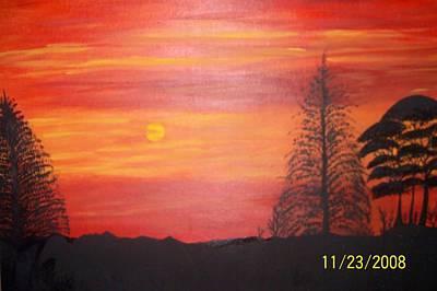 Sky On Fire Art Print by Paula Ferguson