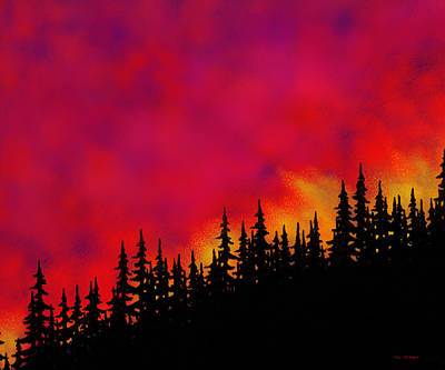 Sky On Fire Art Print by Tim Stringer