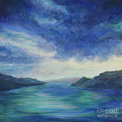 Thunder Painting - Sky Over Kalamalka by Malanda Warner