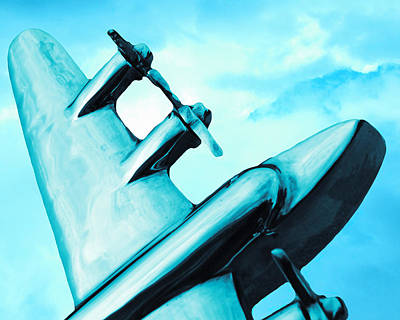Sky Blue Mixed Media - Sky Plane by Slade Roberts