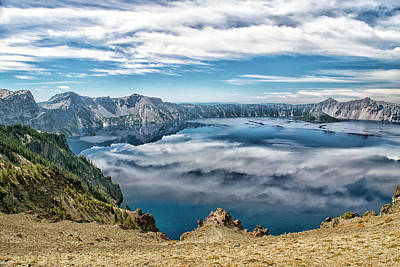 Photograph - Sky Reflections In Crater Lake  by Frank Wilson