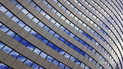 Abstract Buildings Photograph - Sky Reflections by Mike Reid