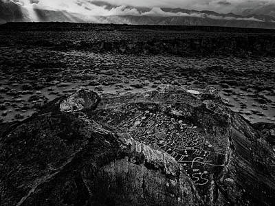 Owens River Photograph - Sky Rock Petroglyph by Michele  James