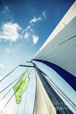 Photograph - Sky Sailing  by Hannes Cmarits