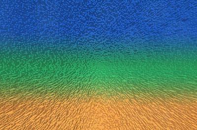 Sky Sea Sand 3d Blocks Art Print by Betsy Knapp