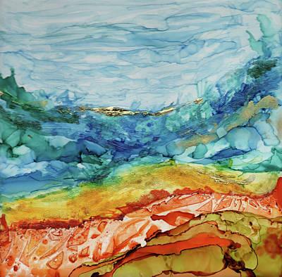 Painting - Sky Sea Sand by Mary Benke